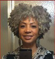 gray twistout natural afro hair