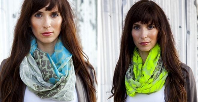 Neon Leopard Infinity Scarves - 4 Colors!