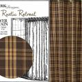 Rustic retreat shower curtain by park designs 72x72 tan brown amp or