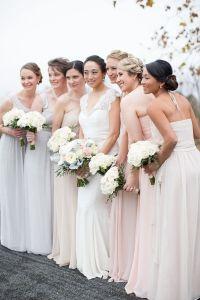 Long neutral bridesmaids dresses | Bridesmaids | Pinterest
