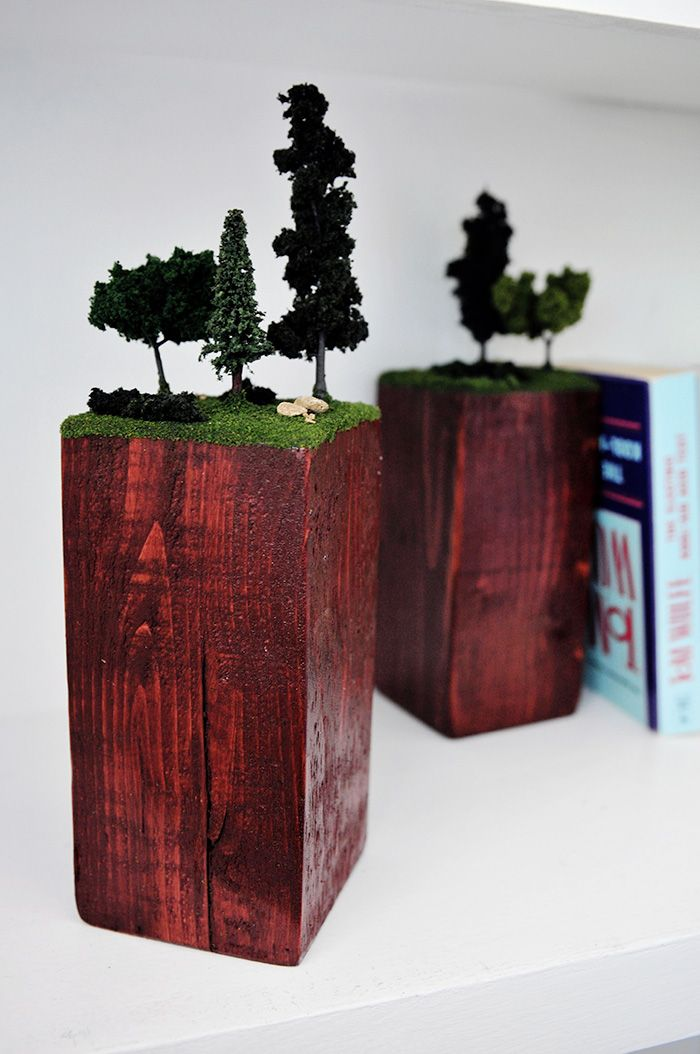 DIY Anthropologie Diorama bookends