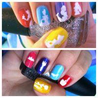 Pin Disney Princess Nail Stickers Decals Art Tattoos Belle ...