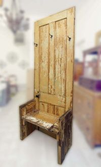Reclaimed Door Coat Tree Bench