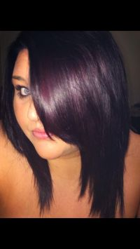 My New Hair Fav Color Plum Black Hair Pinterest Of Hair ...