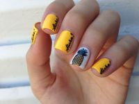 pineapple themed nail art | ::: pineapples ::: | Pinterest