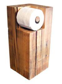 Wood toilet roll holder | Pallet Wood Ideas | Pinterest