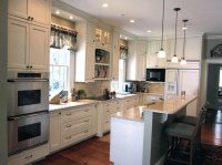 Bar with knee wall | Kitchen | Pinterest