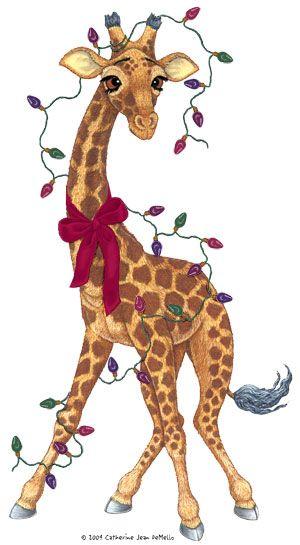 Christmas Giraffe Outdoor Decoration