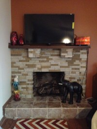 Airstone fireplace | fireplace | Pinterest