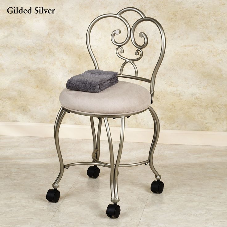 Add wheels to vanity chair  For the Home  Pinterest