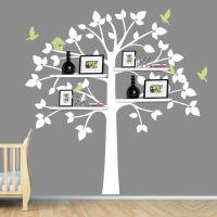 White Tree Wall Decal, Baby Nursery Decor, Shelving Tree ...