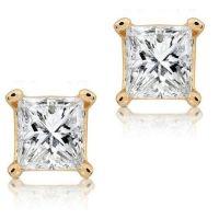 Diamond Earrings: Screw Back Diamond Stud Earrings