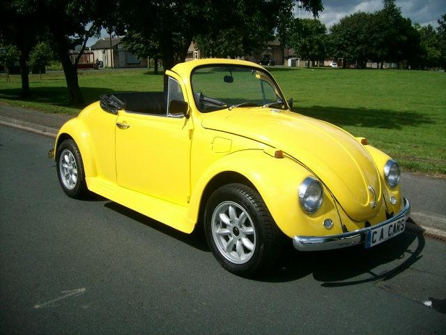 Yellow Volkswagen Convertible Picture