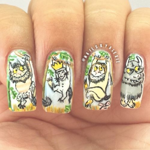 Where the Wild Things Are Nail Art