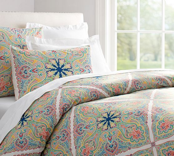 Penelope Organic Duvet Cover & Sham - Twilight Blue | Pottery Barn