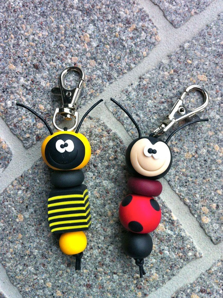 I'm thinking I could bake clay with metal so that I could just hook it onto a key ring... hmmmm