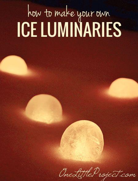 Beautiful Ice Luminaries..