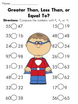 89 Less Than Greater Than Ideas 1st Grade Math First Grade Math Teaching Math