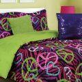 Zebra peace sign comforter bedsheets pinterest