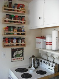 spice rack. above the stove shelf.