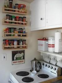 spice rack. above the stove shelf. | Kitchen | Pinterest