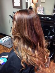 soft shiny ombre hair plain