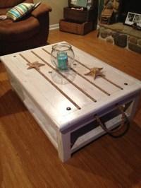 Beach theme coffee table | decorating ideas for Charleston ...