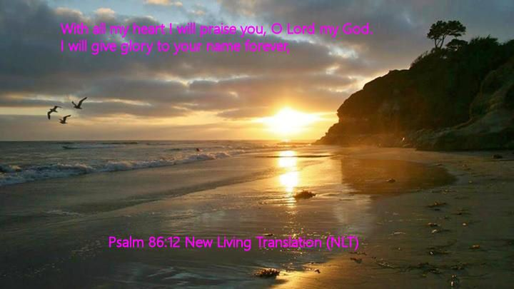 Psalm 86.12 New Living Translation (NLT)