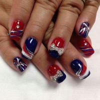 Patriotic nails | Nail Art Frenzy | Pinterest