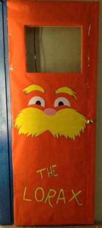 The Lorax door decoration.