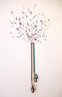 washi tape wall art | Crafts | Pinterest