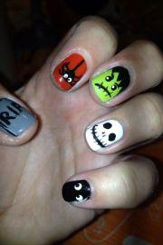 halloween nails nail design