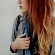 ginger dip dye long hair