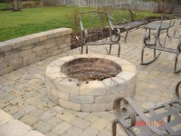 Back patio fire pit