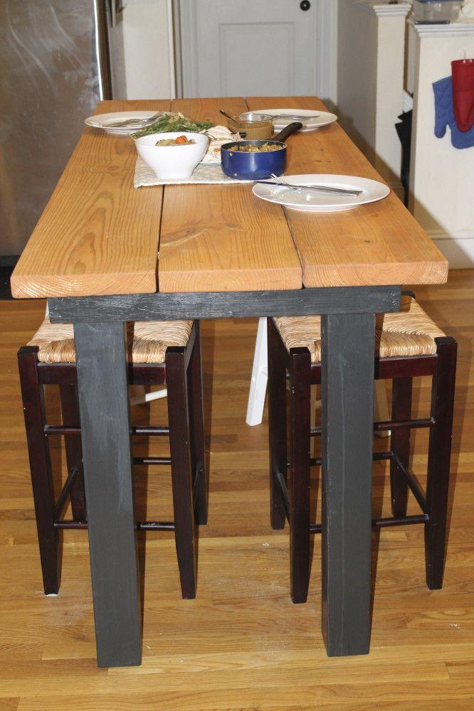 Long Bar Height Table  DIY house decor  Pinterest