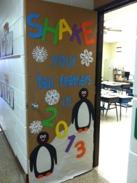 January Classroom Door Decorations