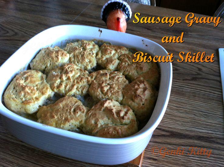 Vegan Homemade Sausage Gravy and Biscuit Skillet Recipe