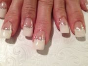 french tip wedding nails nail