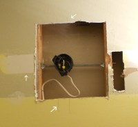 Install light fixture between studs | DIY, How To and Tips ...