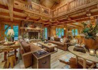 Log home living room | Home - Living Rooms | Pinterest