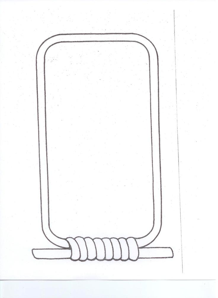 Blank Cartouche Template Print