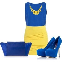 blue and yellow!! | Shoes and clothes | Pinterest