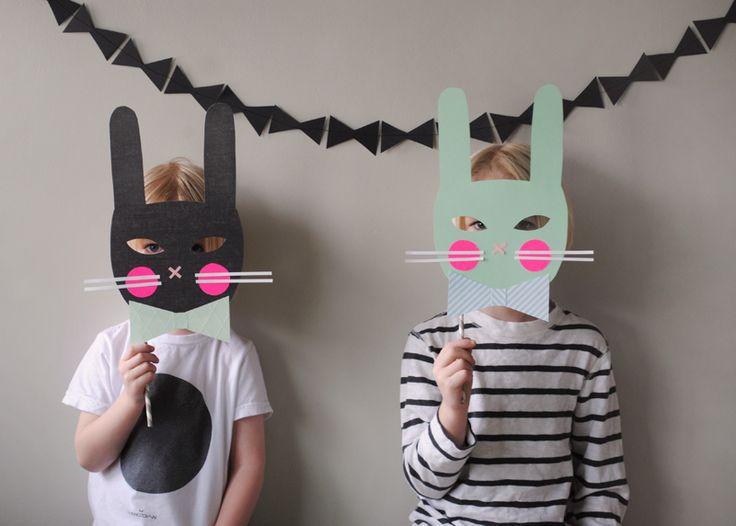 Mer Mag: DIY Bunny Masks for La Petite Magazine