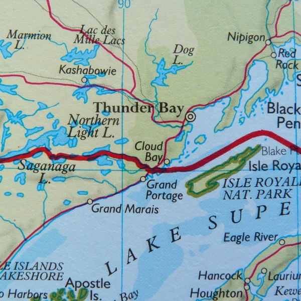 Northern Light Lake Map