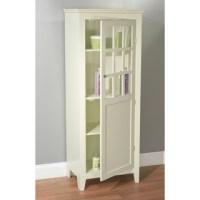 Antique White Tall Bathroom Linen Cabinet   Overstock.com ...