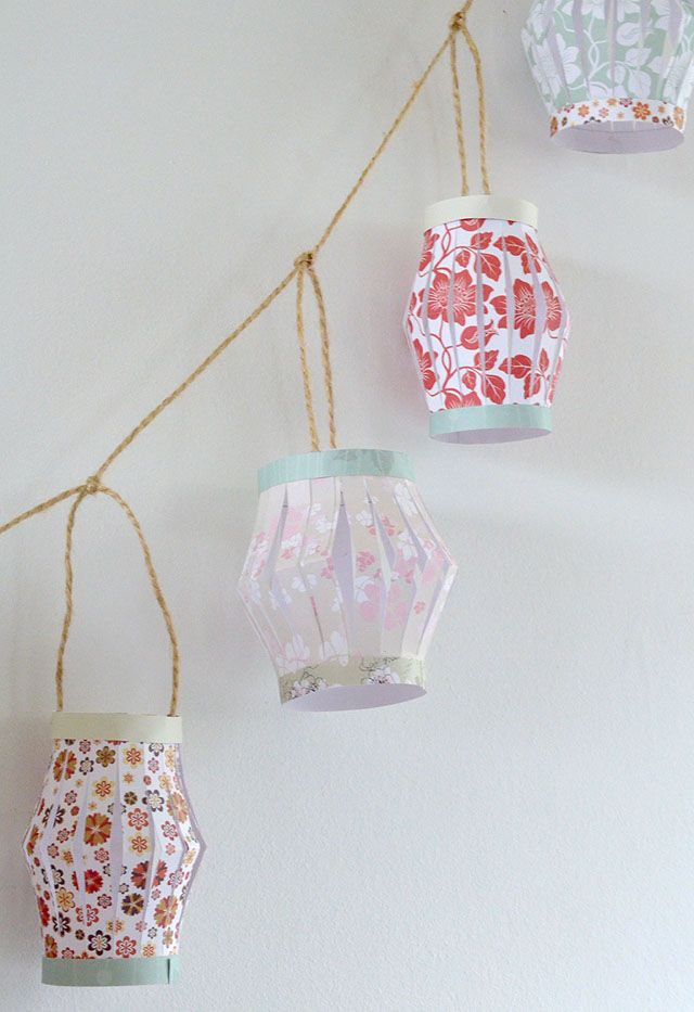 DIY paper lantern garland