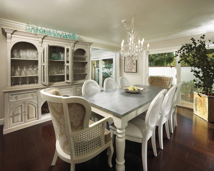 Dining Table Dining Table Distressed White