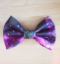 Galaxy Interstellar Outer Space Hair Bow / Bow Tie Pin