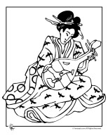 Geisha   adult coloring pages   Pinterest