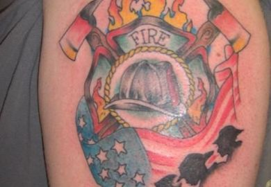 Fire Department Tattoos Designs